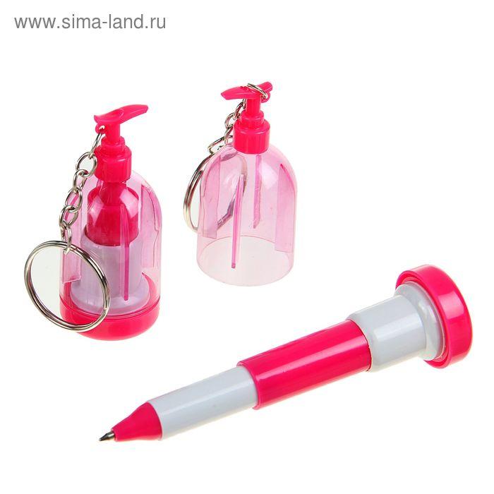 Ручка шариковая-прикол Огнетушитель раздвижная 12см МИКС с брелком