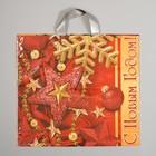 """Пакет """"Красный"""", полиэтиленовый с петлевой ручкой, 40х40 см, 100 мкм"""