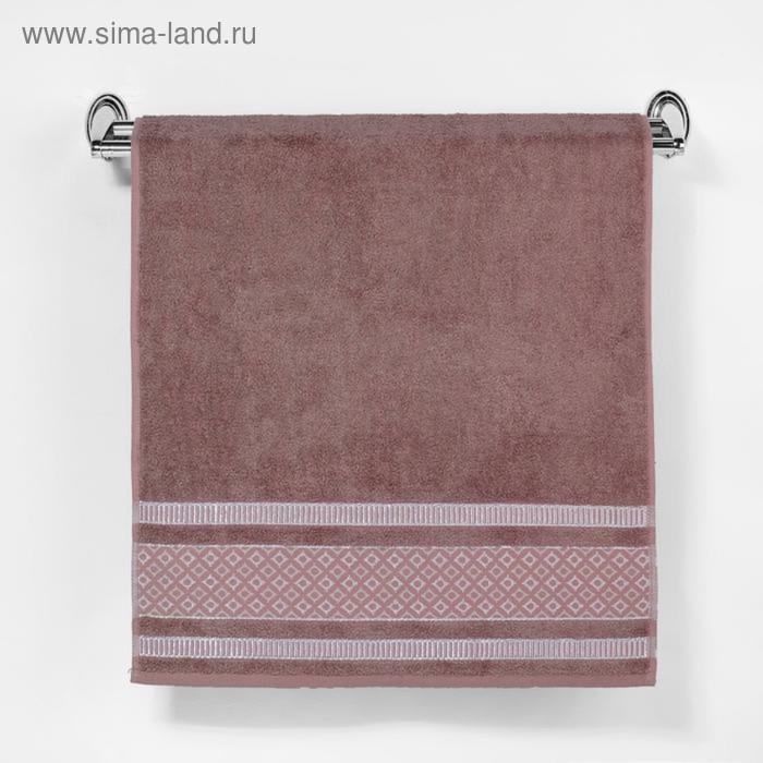 """Полотенце махровое """"Этель"""" Bambolina, каштановый 70*140 см бамбук, 450 г/м2"""
