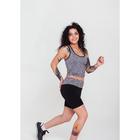 Спортивная майка ONLITOP Fitness time, размер 42-44, цвет серый