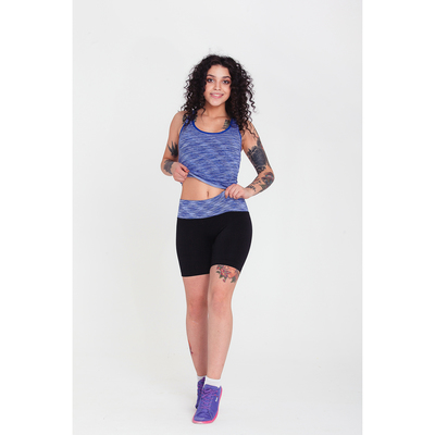 Спортивная майка ONLITOP Fitness time, размер 42-44, цвет синий