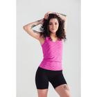 Спортивные шорты ONLITOP Fitness time, размер 46-48, цвет фуксия
