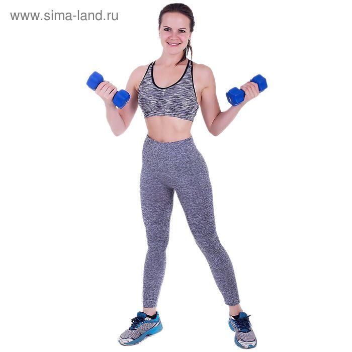 Спортивные легинсы ONLITOP Basic grey, S-M (42-44), 88% полиамид,12% нейлон, 5% спандекс