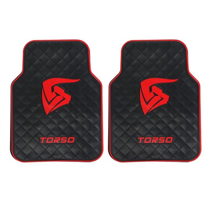 Коврик для авто резиновый,TORSO premium, 68х50 см, набор 2 шт.