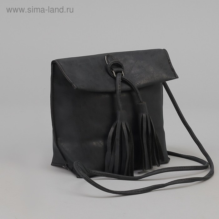 """Сумка женская на клапане """"Венера"""", 1 отдел, наружный карман, длинный ремень, чёрная"""