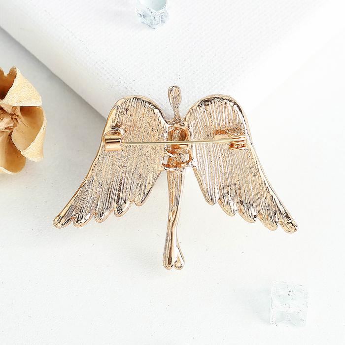 """Брошь """"Ангел"""", цвет белый в золоте - фото 274889735"""