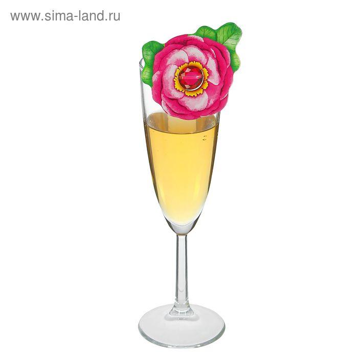 """Декор для бокалов """"Цветок"""" (набор 6шт)"""