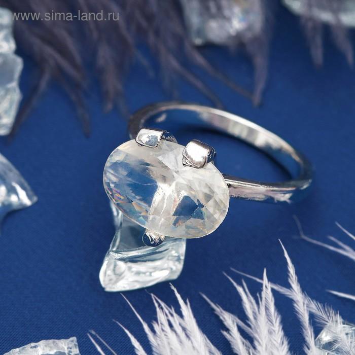"""Кольцо """"Ассорти"""" овал, цвет белый в серебре, размер 17,18,19 МИКС"""