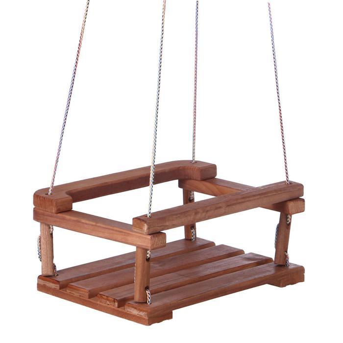 Качели подвесные, деревянные 30*40 см плоские, тёмные