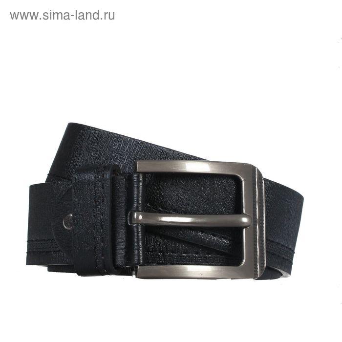 Ремень мужской, винт, пряжка - металл, ширина - 4, 2см, чёрный