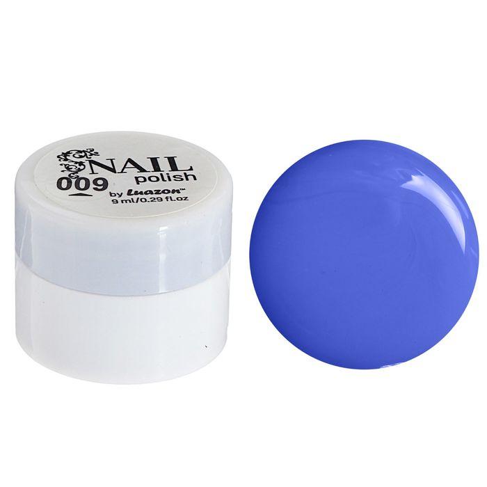 Гель-краска для ногтей трёхфазный LED/UV, 8мл, цвет 09 синий