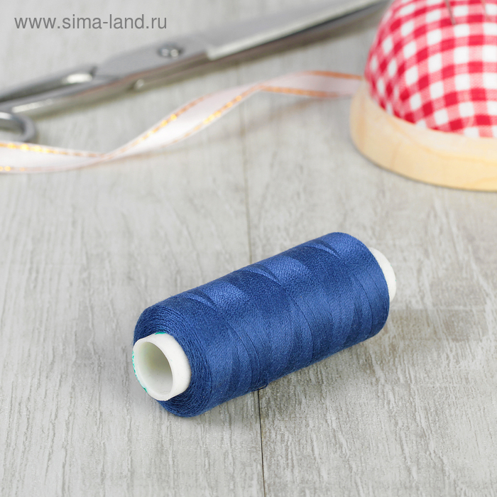 Нитки 40/2, 365м, №406, цвет синий