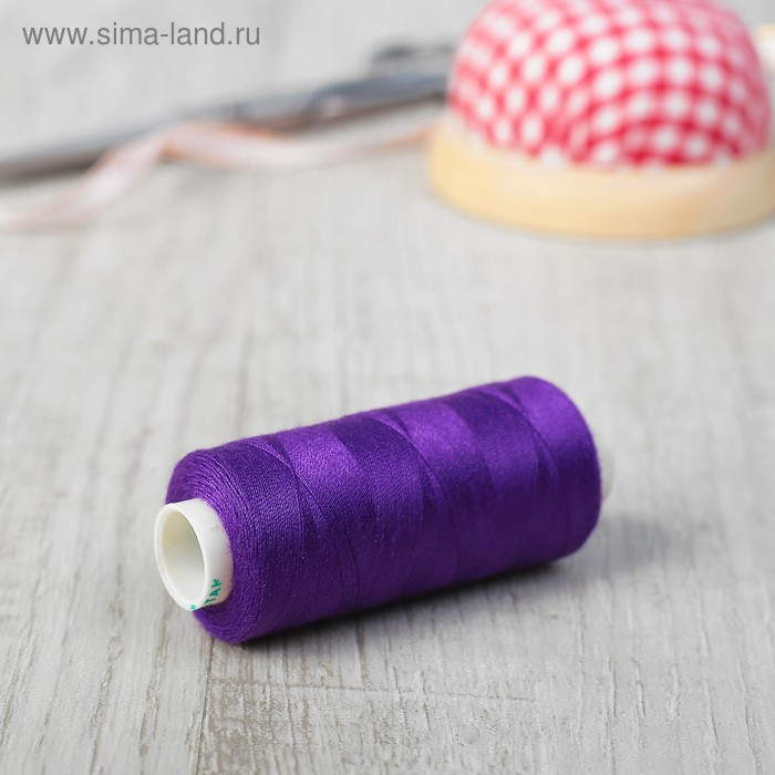 Нитки 40/2, 365м, №524, цвет фиолетовый