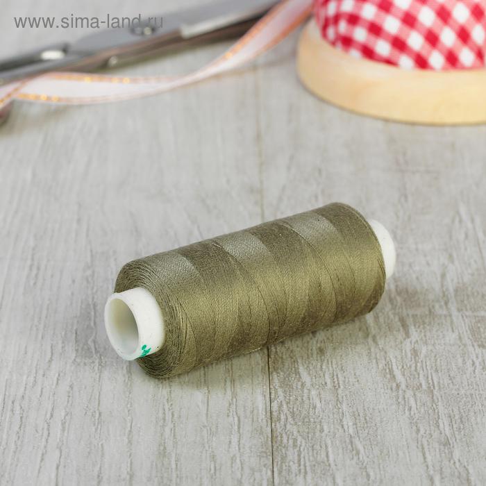 Нитки 40/2, 365м, №259, цвет серо-зелёный