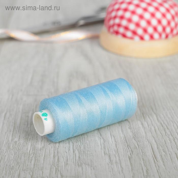 Нитки 40/2, 365м, №380, цвет голубой