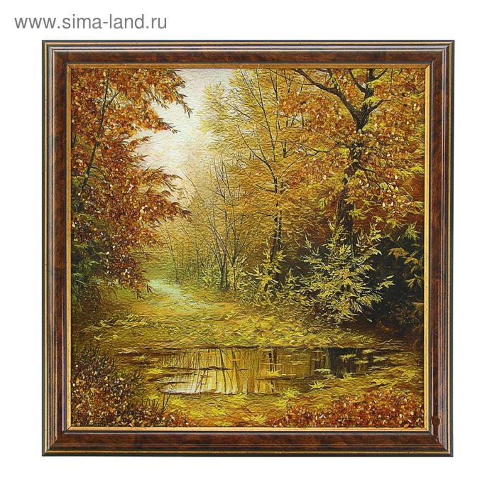 Картина янтарь 30х30 см Букет микс