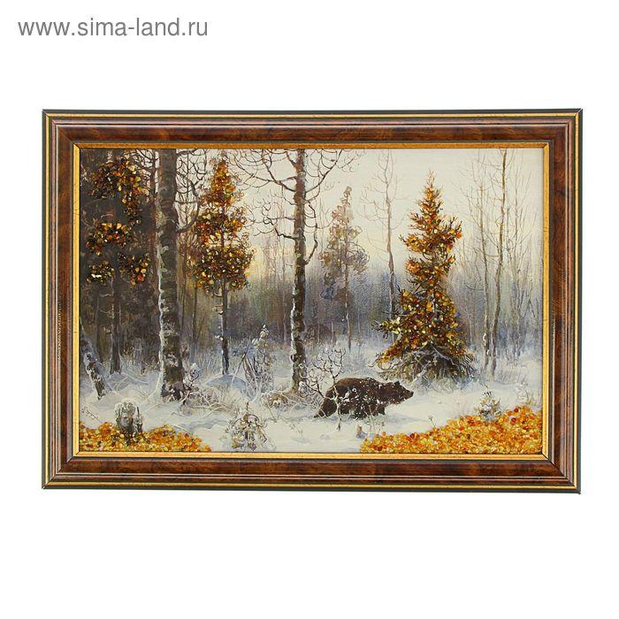 Картина янтарь 30х20 см Пейзаж микс