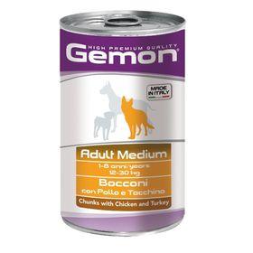 Влажный корм Gemon Dog Medium для собак средних пород, курицы с индейкой, ж/б, 1250 г