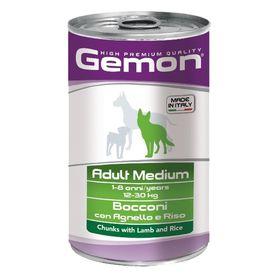 Влажный корм Gemon Dog Medium для собак средних пород, ягненок с рисом, ж/б, 1250 г