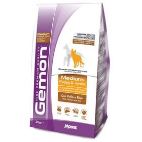 Сухой корм Gemon Dog Medium для щенков средних пород, курица с рисом, 3 кг.