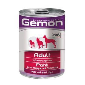 Влажный корм Gemon Dog для собак, паштет говяжий рубец, ламистер, 400 г