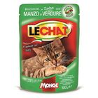 Влажный Lechat Pouch для кошек, говядина/овощи, пауч, 100 г