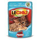 Влажный Lechat Pouch для кошек, с океанической рыбой, пауч, 100 г