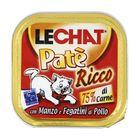 Влажный корм Lechat  для кошек, говядина/куриная печень, ламистер, 100 г