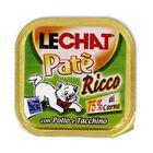 Влажный корм Lechat  для кошек, курица/индейка, ламистер, 100 г
