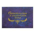 """Папка для свидетельства о заключении брака """"Гроза"""" синяя, А5, ламинированное"""