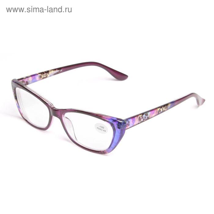 "Очки ""Кошачий глаз"", пластик,цветн, диоптр -1, 62-64мм"