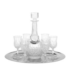 Набор из 6 бокалов для вина (120 мл.) с графином на подносе Ош
