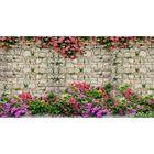 Фотосетка, 300 × 158 см, с фотопечатью, «Розы на плетёнке»