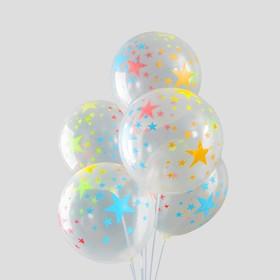 """Набор воздушных шаров """"Звёзды"""" 5 шт. 10"""""""