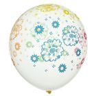 """Набор воздушных шаров """"Цветочки"""" 5 шт. 10"""" - фото 308467595"""