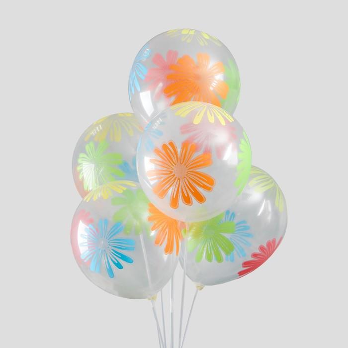 """Набор воздушных шаров """"Большие ромашки"""" 5 шт. 10"""" - фото 308467600"""