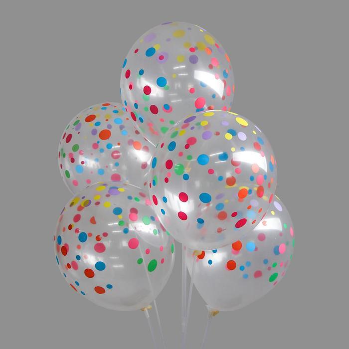 """Набор воздушных шаров """"Горох цветной"""" 5 шт. 10"""" - фото 308467603"""