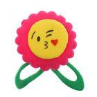 """Мягкая игрушка-магнит """"Цветочек-смайлик"""" с лепестками, цвета МИКС"""