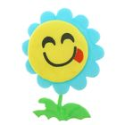 "Soft toy magnet ""Flower-smiley"" with stem MIX color"
