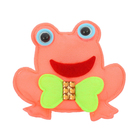 """Мягкая игрушка-магнит """"Лягушонок с бантиком"""", цвета МИКС"""
