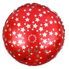 "Balloon foil 18"" ""Star"", round, color red"