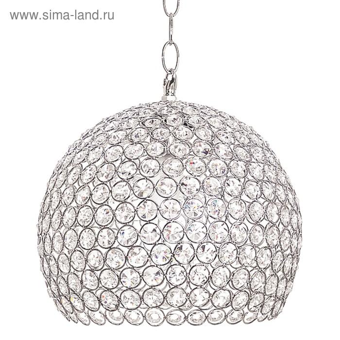 "Люстра подвес ""Орения"" 1 лампа 40W E27 основание хром 25х25х75 см"