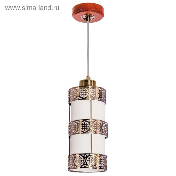 "Люстра подвес ""Лоренто"" 1 лампа 40W E14 основание коричневый 11х11х70 см"
