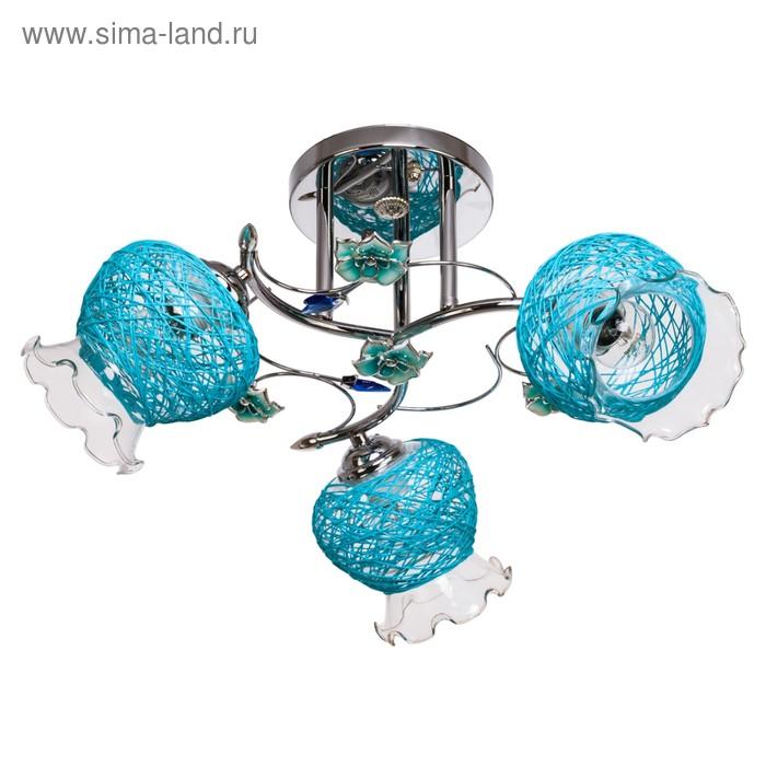 "Люстра ""Вернали"" 3 лампы 40W E27 основание хром 47х47х28 см"