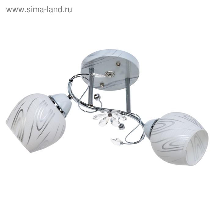 """Люстра """"Пиколи"""" 2 лампы 40W E27 основание белый 44х23х28 см"""