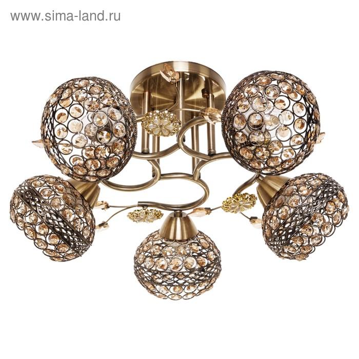 """Люстра """"Шанто"""" 5 ламп 40W E27 основание золото 48х48х25 см"""