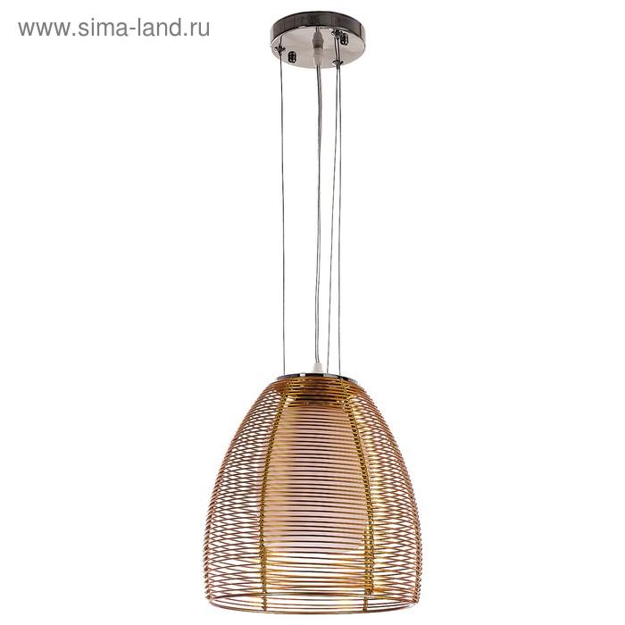 "Люстра подвес ""Штрофа"" 1 лампа 40W E27 золото 25х25х100 см"