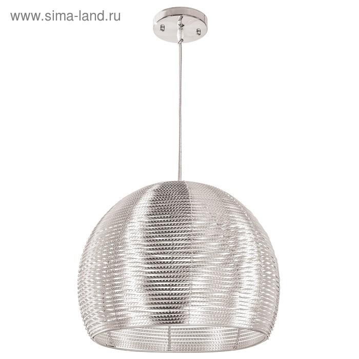 """Люстра подвес """"Каунти"""" 1 лампа 40W E27 серебро 30х30х110 см"""
