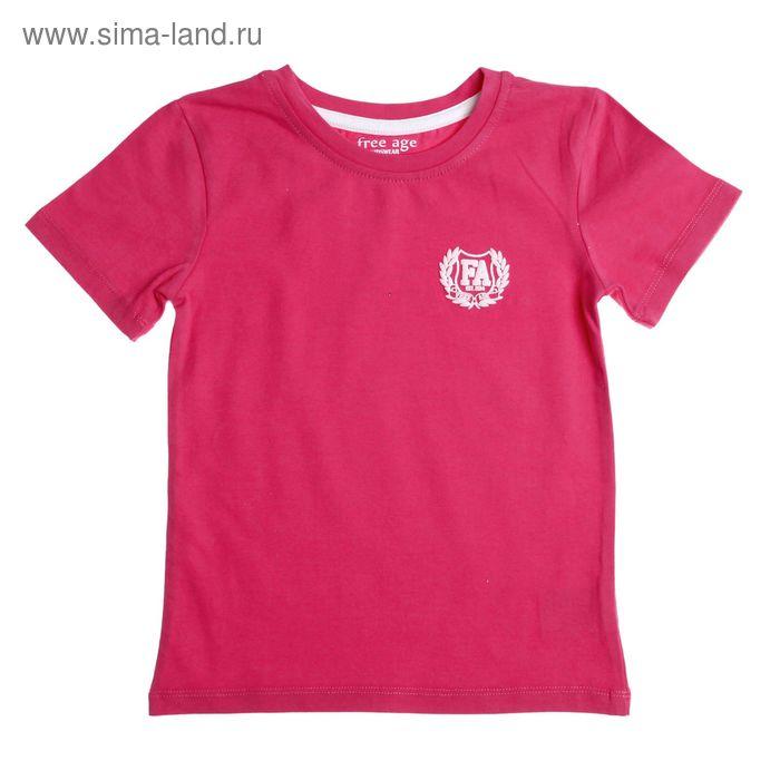 Футболка для девочки, рост 104 см (60), цвет ярко-розовый (арт. ZG 02479-F1 FA_Д)