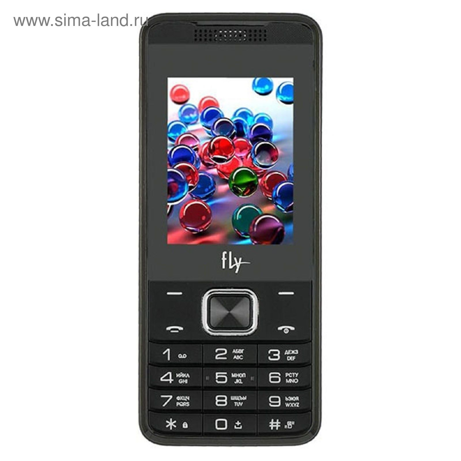 b73fef65c2cef Сотовый телефон Fly FF245 темный серый (73504) - Купить по цене от ...